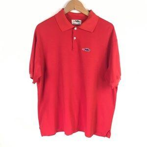 Red Sears Dragon Logo Vintage Polo Shirt Medium